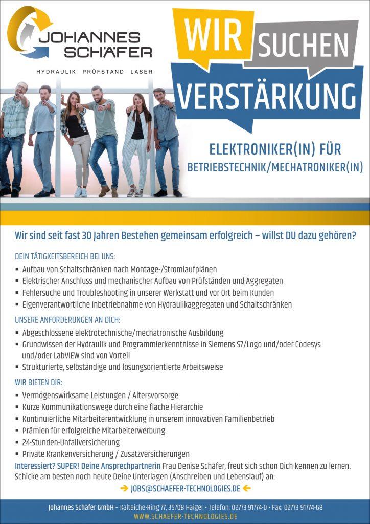 Elektroniker, Mechatroniker Betriebstechnik